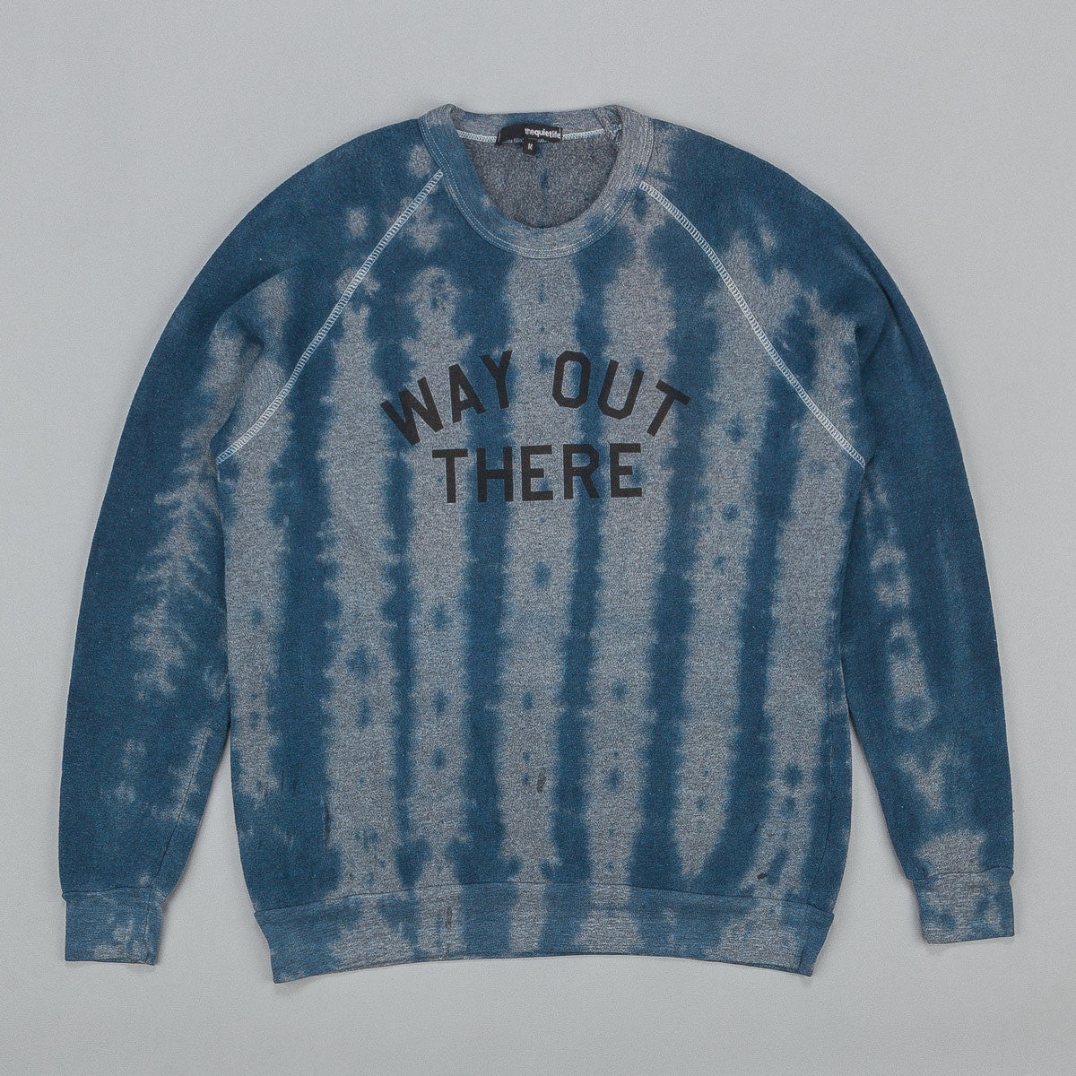 The Quiet Life Way Out there Sweatshirt Tie Dye Heather Grey