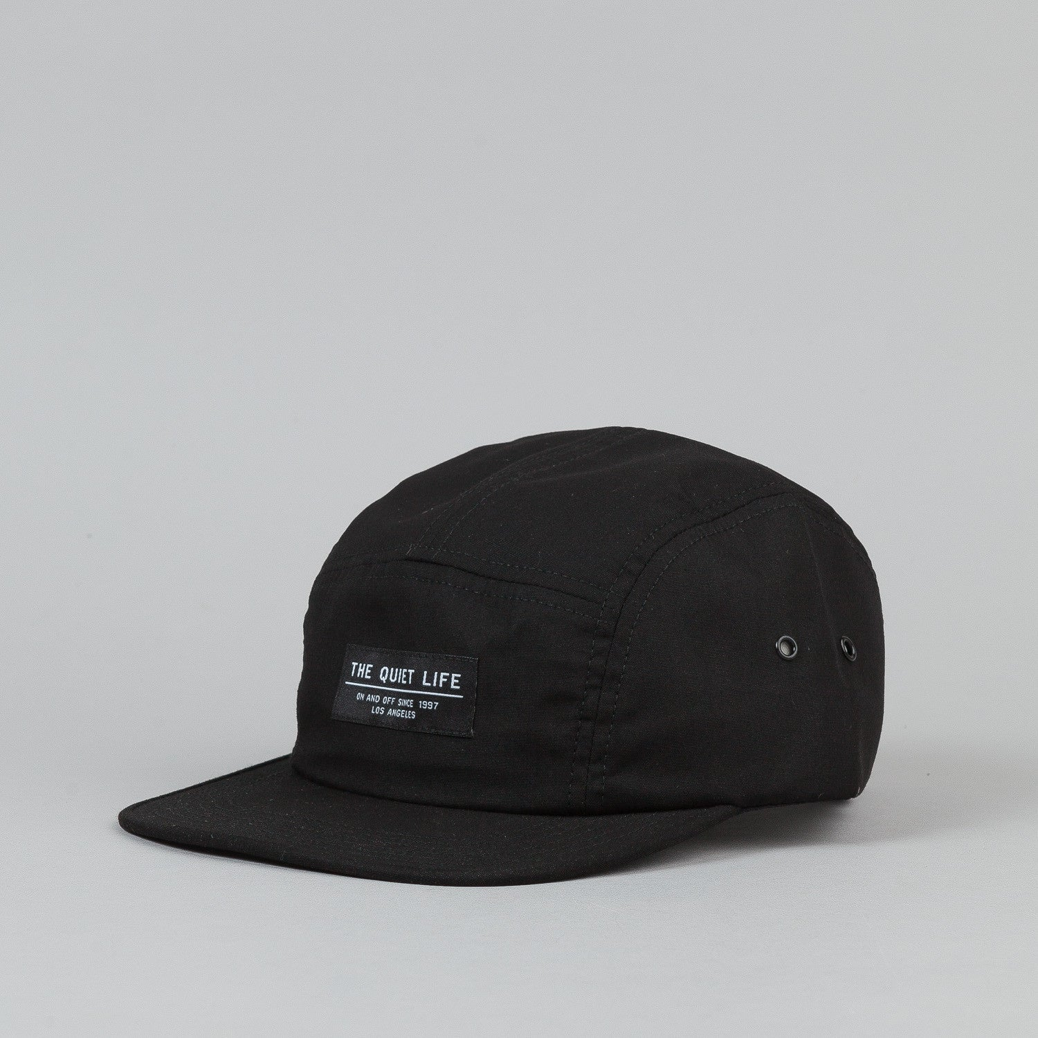 The Quiet Life Whisper 5 Panel Cap Black