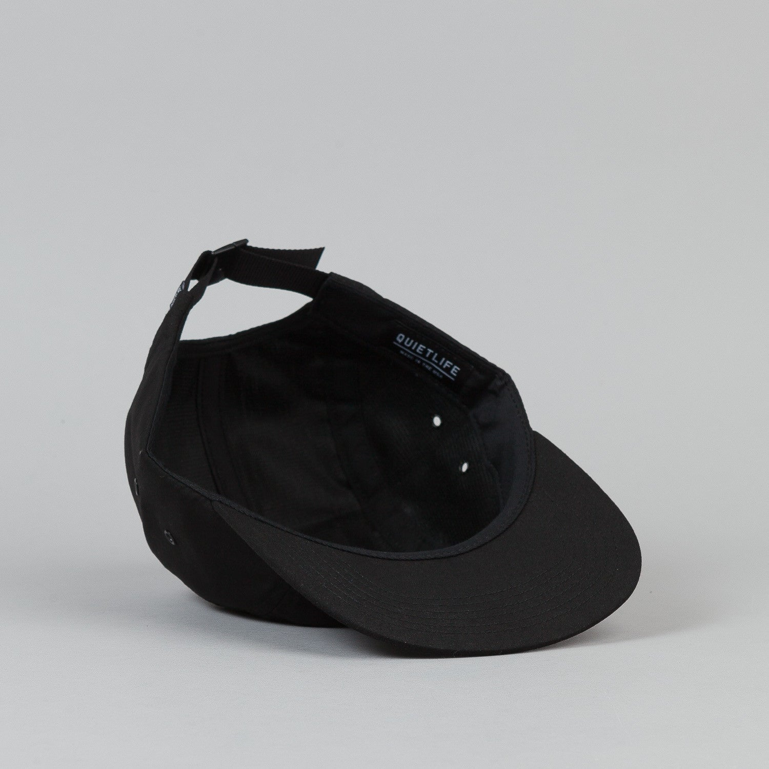 The Quiet Life Whisper 5 Panel Cap - Black