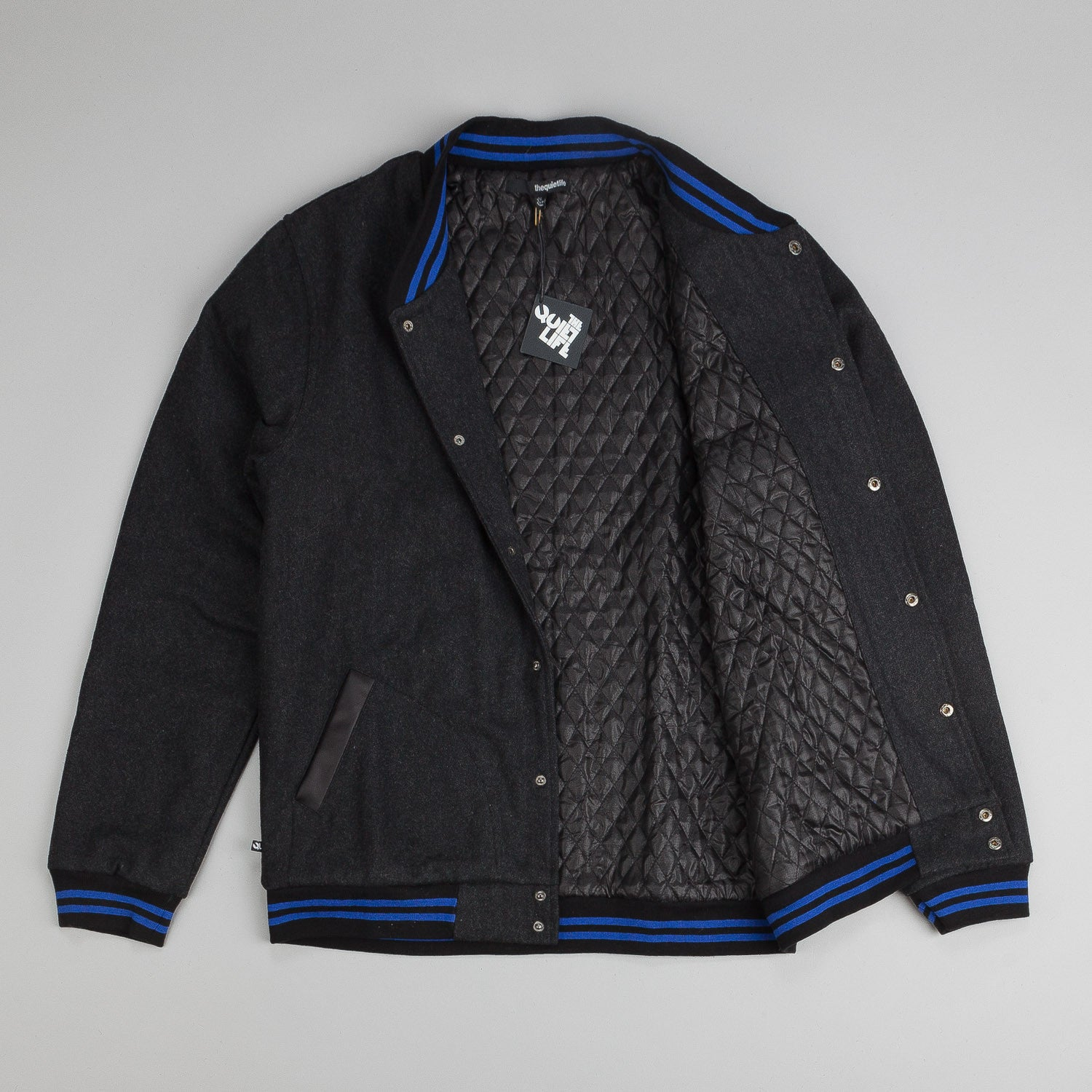 The Quiet Life Wool Coach Jacket - Black / Blue