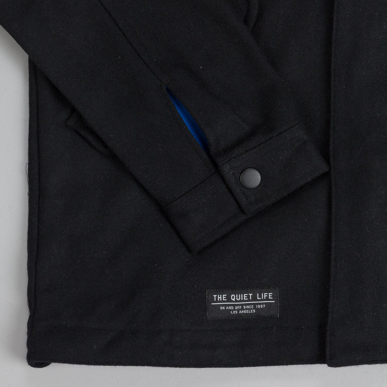 The Quiet Life Wool Fishtail Jacket Black