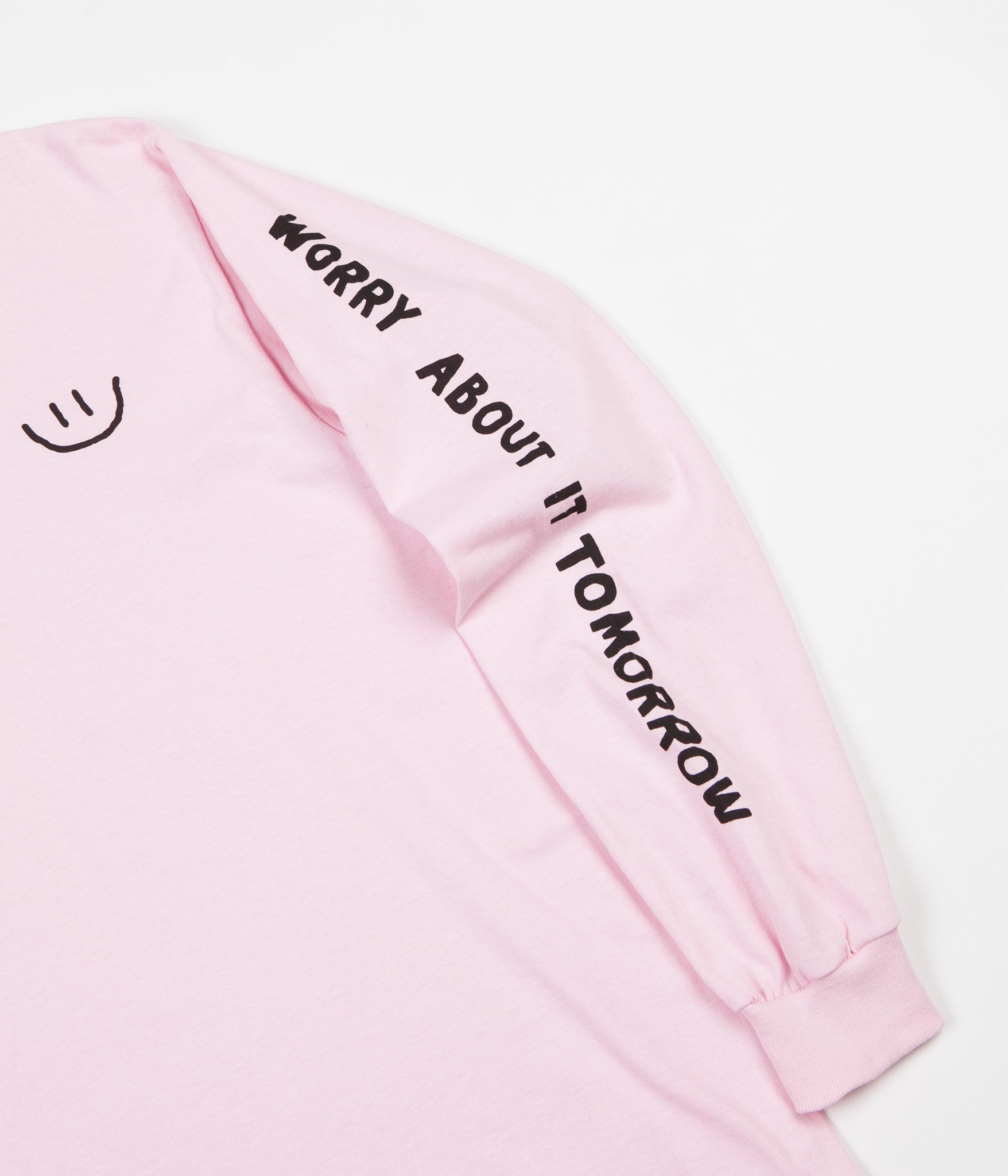 The Quiet Life Worry Long Sleeve T-Shirt - Pink
