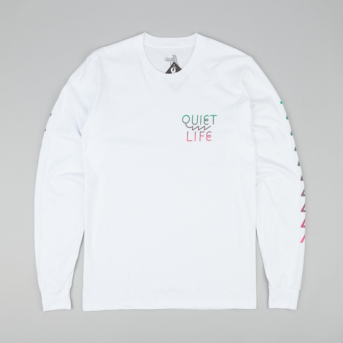 The Quiet Life Zig Zag L/S T-Shirt - White