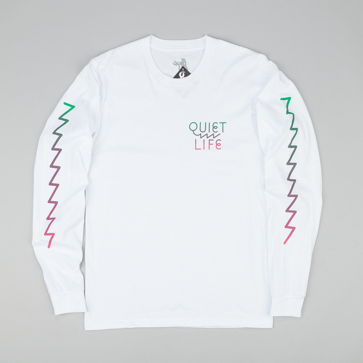 The Quiet Life Zig Zag Long Sleeve T-Shirt - White