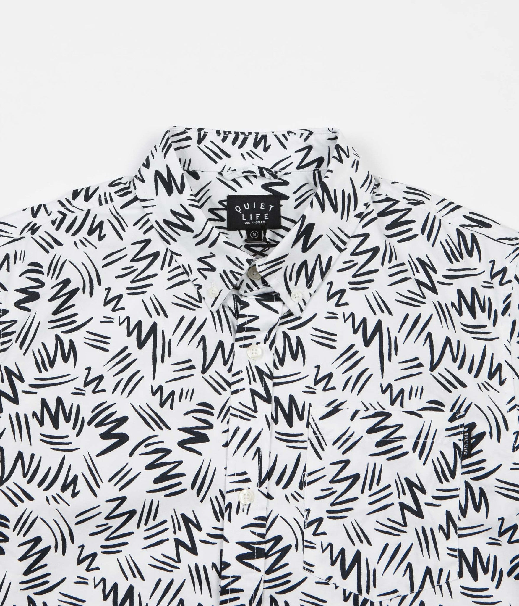 The Quiet Life Ziggity Button Down Shirt - Black / White