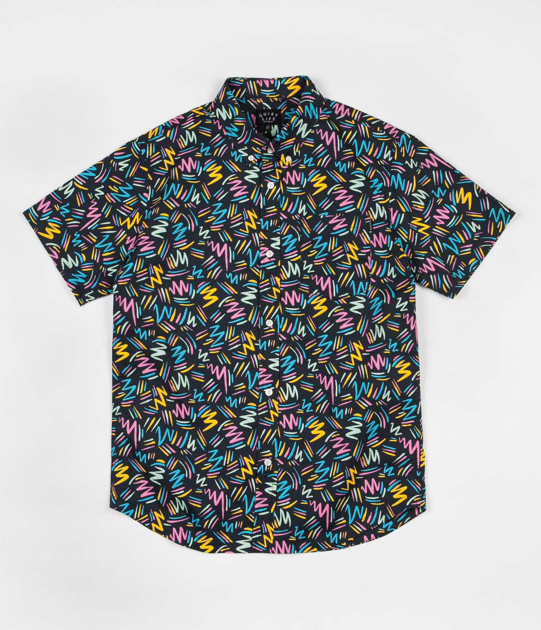 The Quiet Life Ziggity Button Down Shirt - Multi