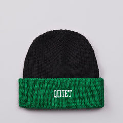 The Quiet Life QL Ribbed Beanie Black / Green