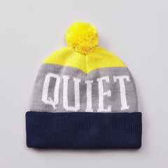 The Quiet Life Tre Beanie Blue / Grey / Yellow