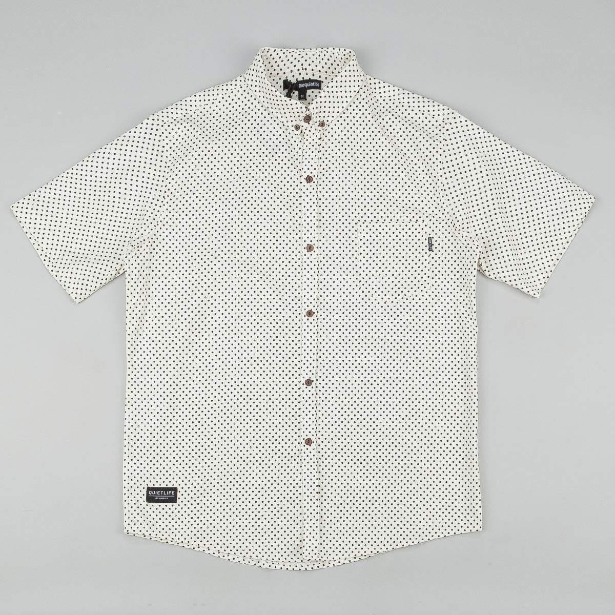 The Quiet Life Painted Dot Button Down Short Sleeve Shirt