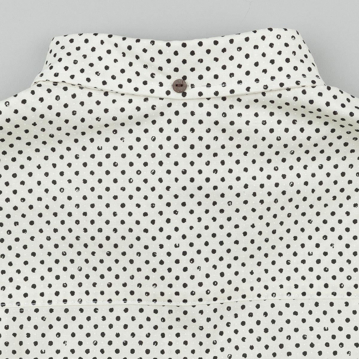 The Quiet Life Painted Dot Button Down Short Sleeve Shirt - Cream