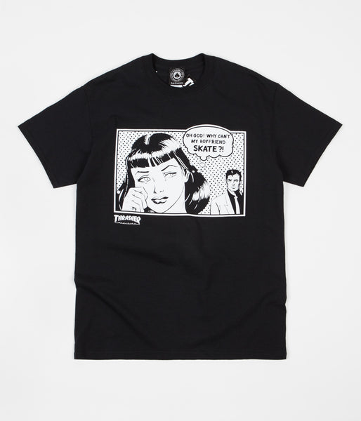 Thrasher Boyfriend T-Shirt - Black