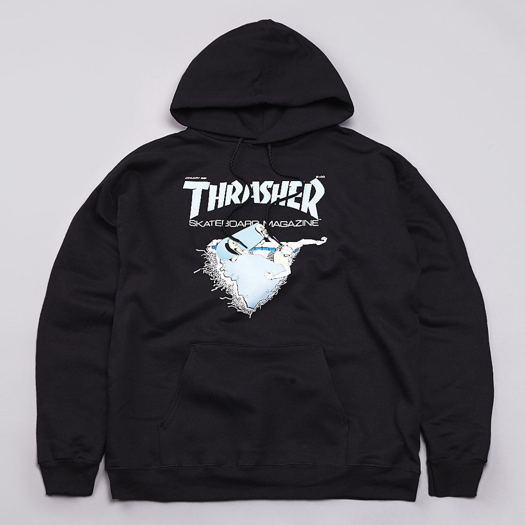 Thrasher First Cover Hooded Sweatshirt Black