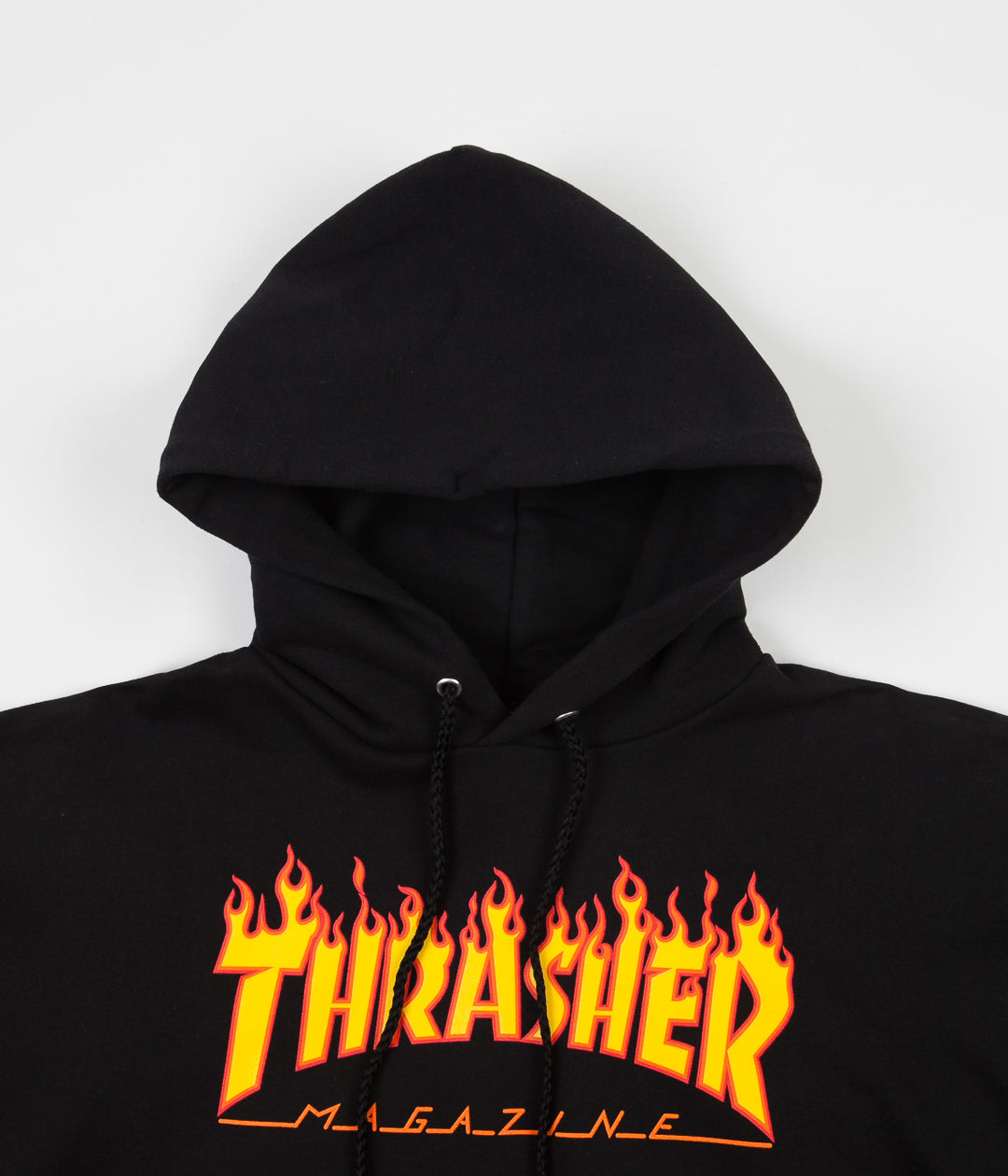Thrasher Flame Logo Hooded Sweatshirt Black