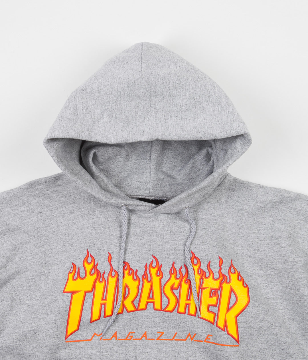 Thrasher Flame Logo Hoodie - Heather Grey