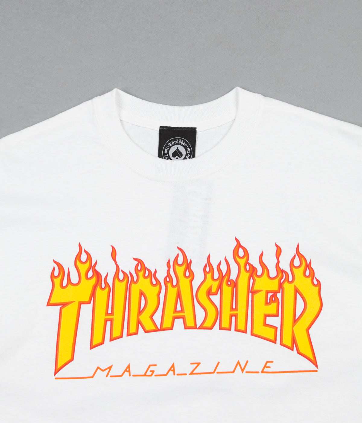 Thrasher Flame Mag Logo T-Shirt - White