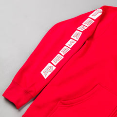 Thrasher Boxed Logo Zip Up Hooded Sweatshirt - Red