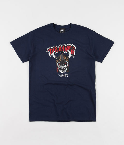 Thrasher Lotties T-Shirt - Navy