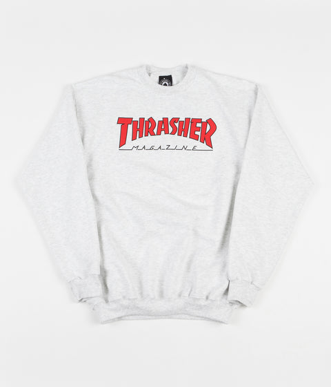 Thrasher Outlined Crewneck Sweatshirt - Ash Grey