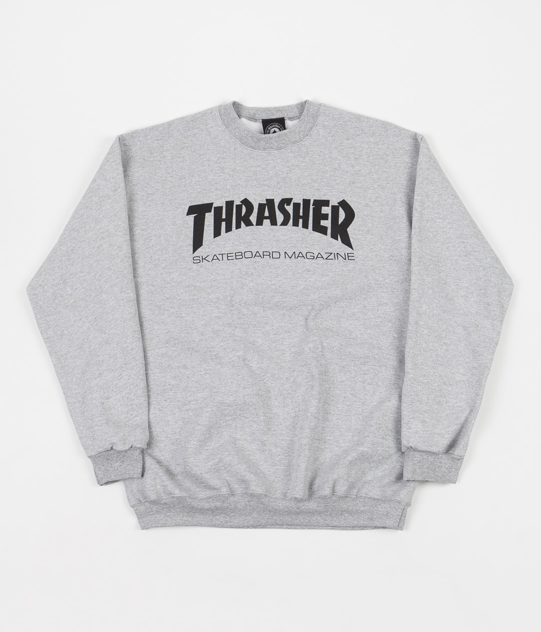 Thrasher Skate Mag Logo Crewneck Sweatshirt - Heather Grey