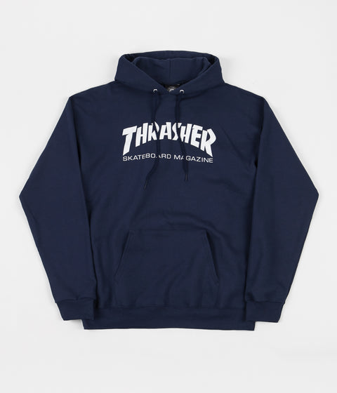 075ae2b6930a Thrasher Skate Mag Logo Hooded Sweatshirt - Navy