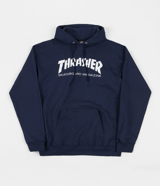 Thrasher Skate Mag Logo Hooded Sweatshirt Navy