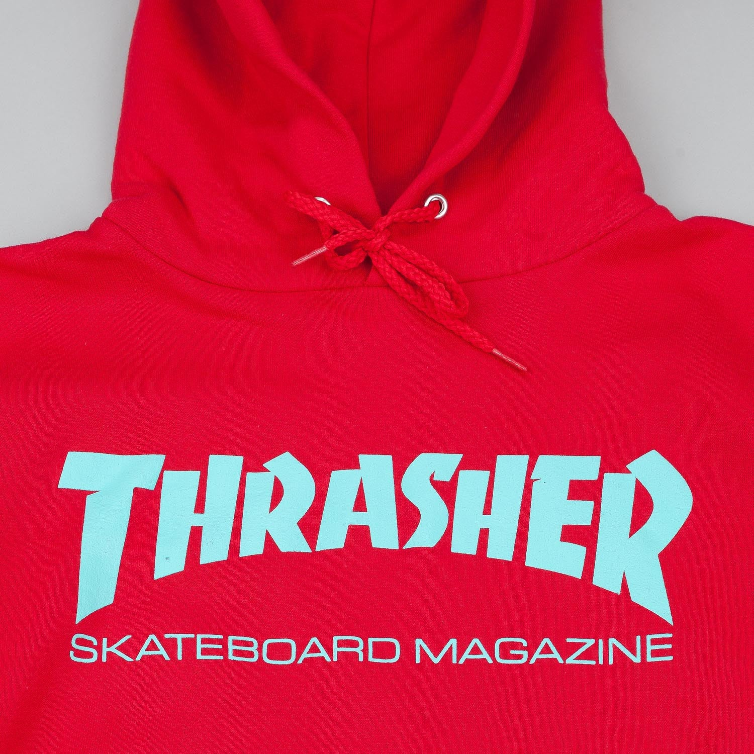 Thrasher Skate Mag Logo Hooded Sweatshirt - Red / Teal