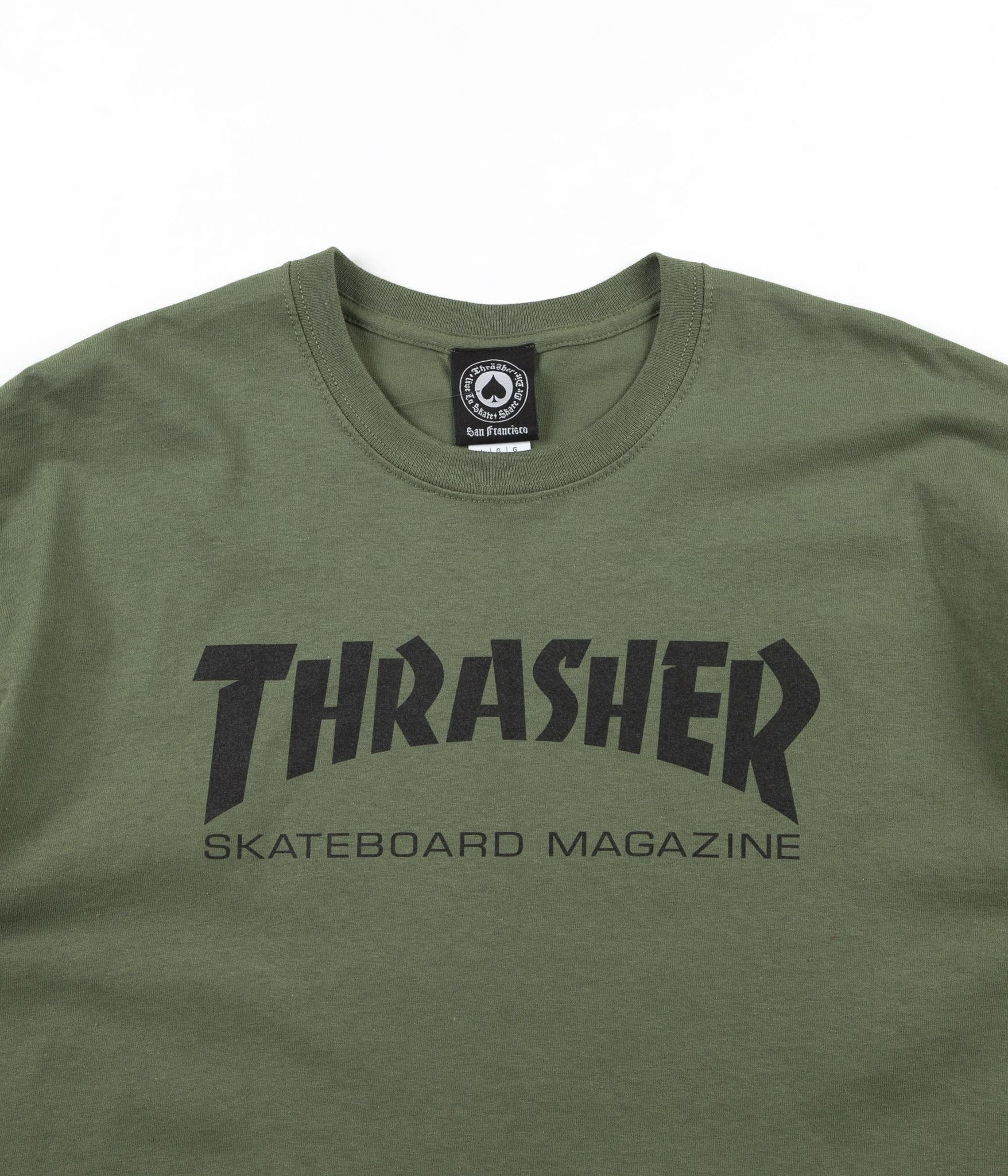 Thrasher Skate Mag T-Shirt - Army Green
