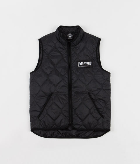 Thrasher Skate Mag Vest Jacket - Black