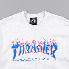 Thrasher Patriot Flame T-Shirt - Ash Grey