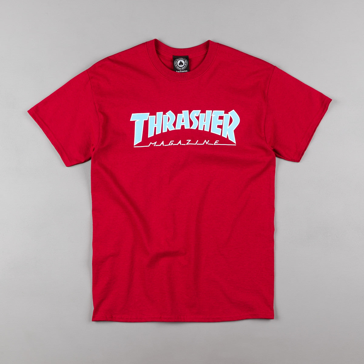 Thrasher Outlined T-Shirt - Cardinal Red