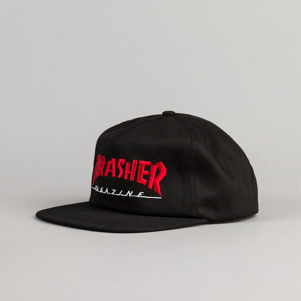 Thrasher Two Tone Skate Mag Cap - Black / Red