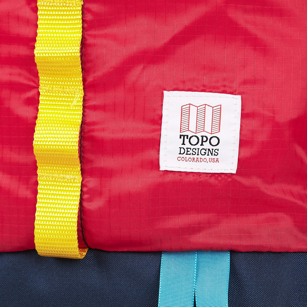 Topo Designs Ultra Light Cinch Top Bag Red