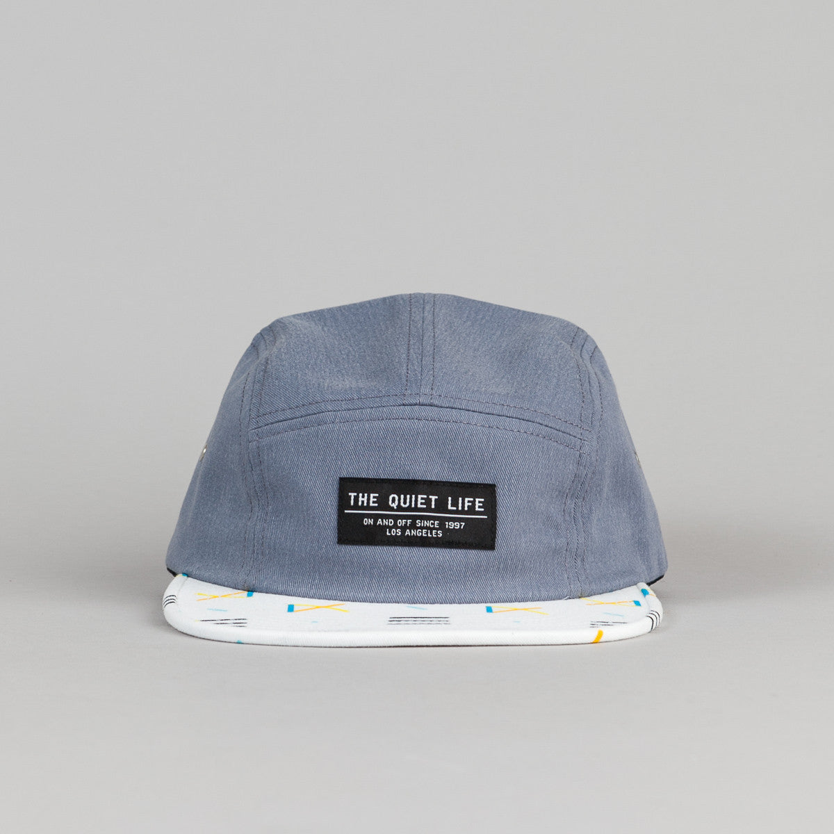 The Quiet Life Primary 5 Panel Cap - Blue