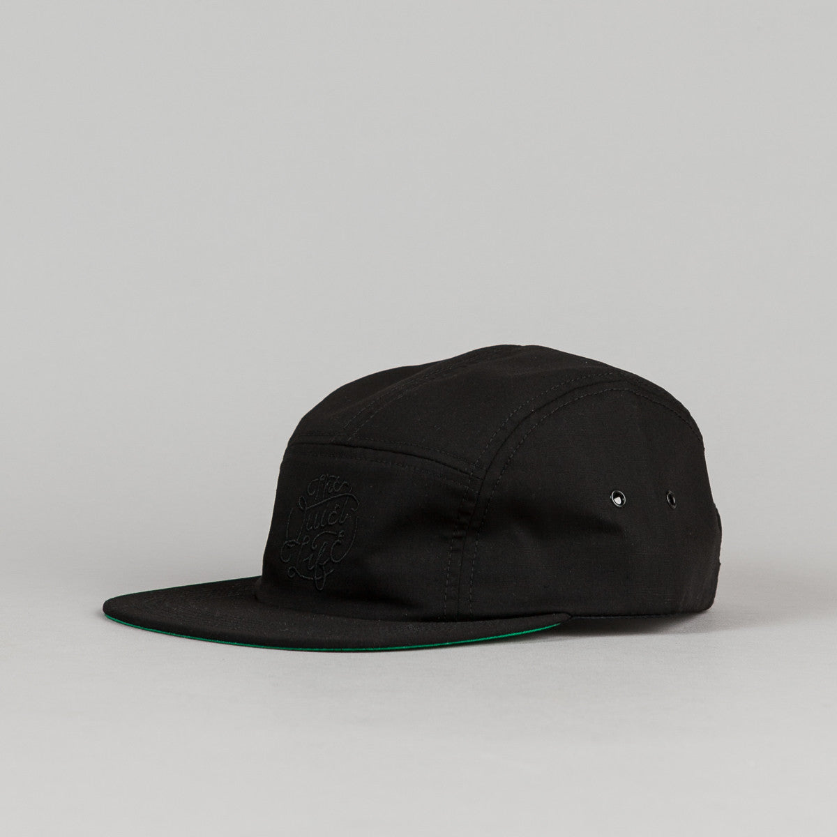 The Quiet Life Court 5 Panel Cap - Black