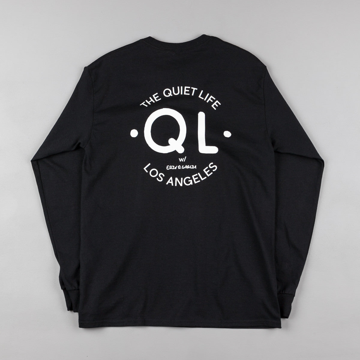 The Quiet Life Garcia Logo Long Sleeve T-Shirt - Black