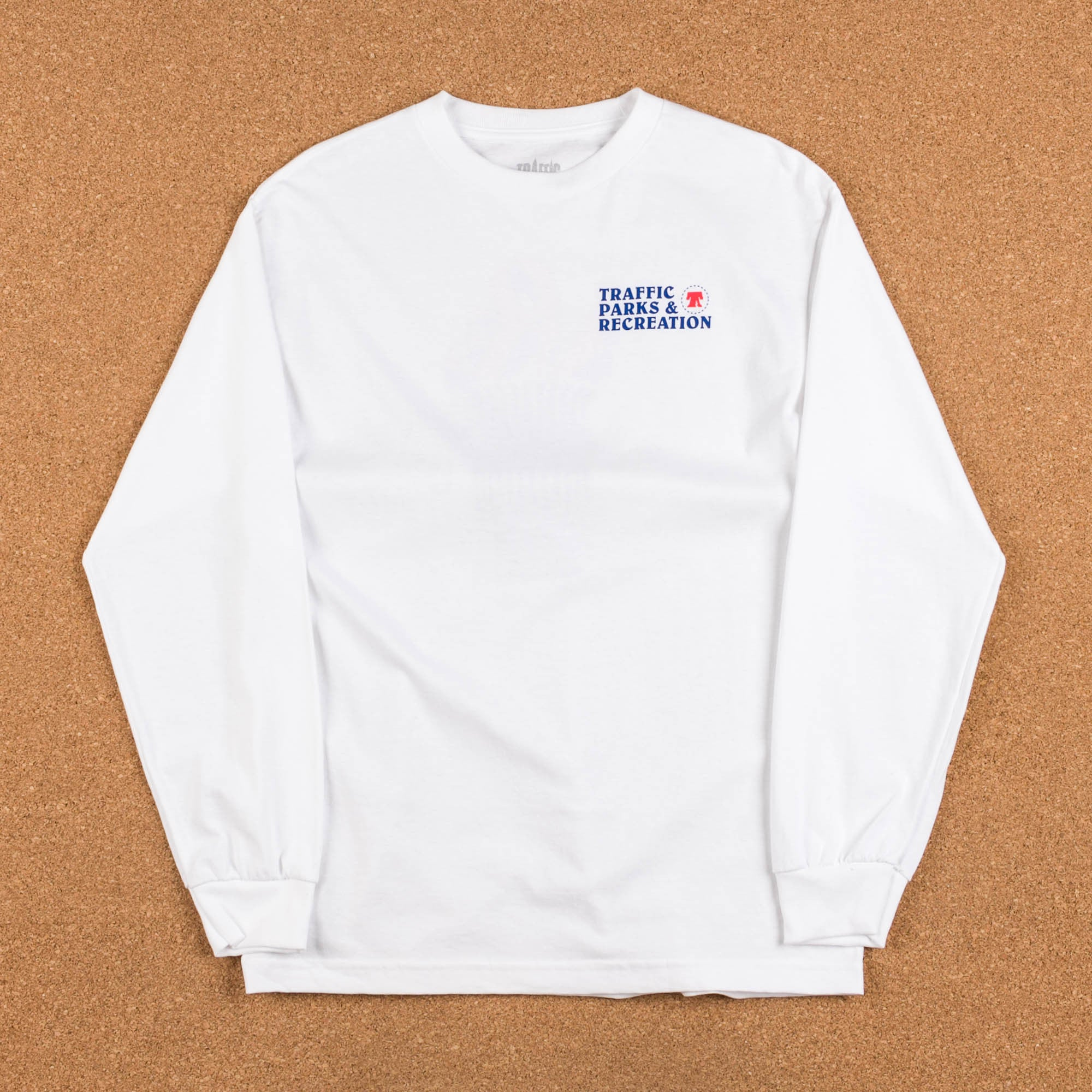 Traffic Skateboards Parks & Rec Long Sleeve T-Shirt - White