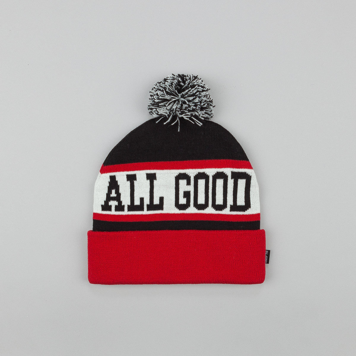 Undefeated All Good Pom Pom Beanie Black