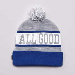 Undefeated All Good Pom Pom Beanie Grey Heather