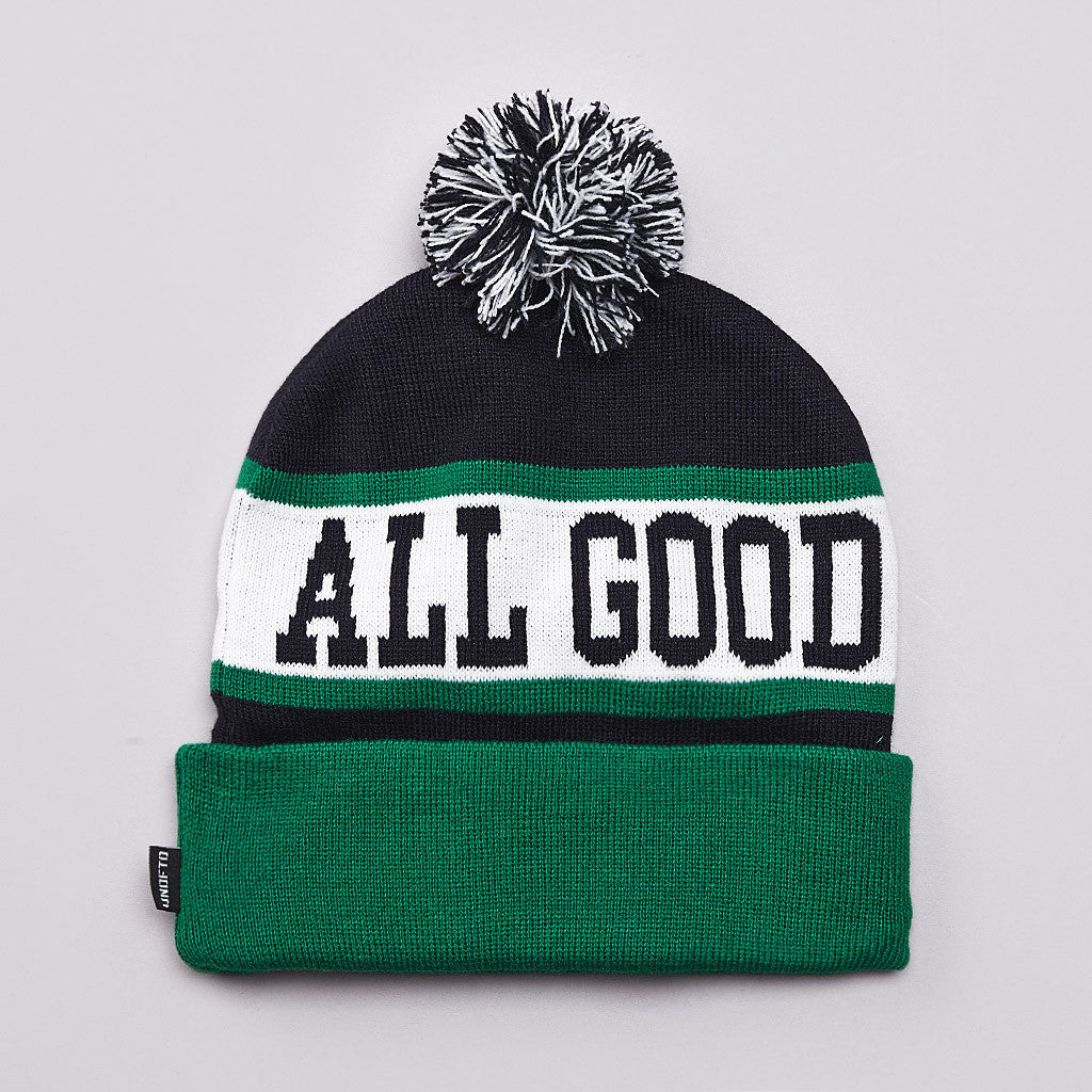 Undefeated All Good Pom Pom Beanie Navy