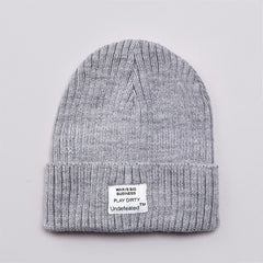 Undefeated War Is Business Beanie Grey Heather
