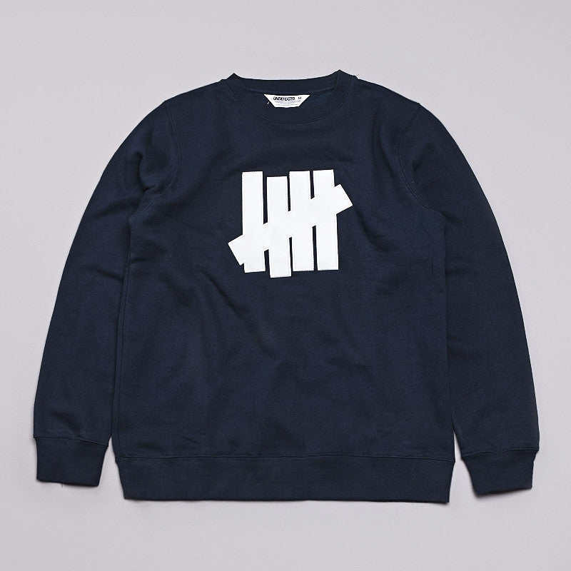 Undefeated 5 Strike Basic Sweatshirt Navy