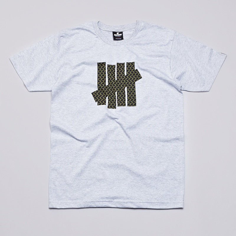 Undefeated Shemagh 5 Strike T Shirt Grey Heather