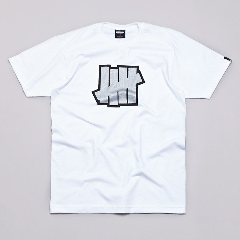 Undefeated Double 5 Strike T Shirt White