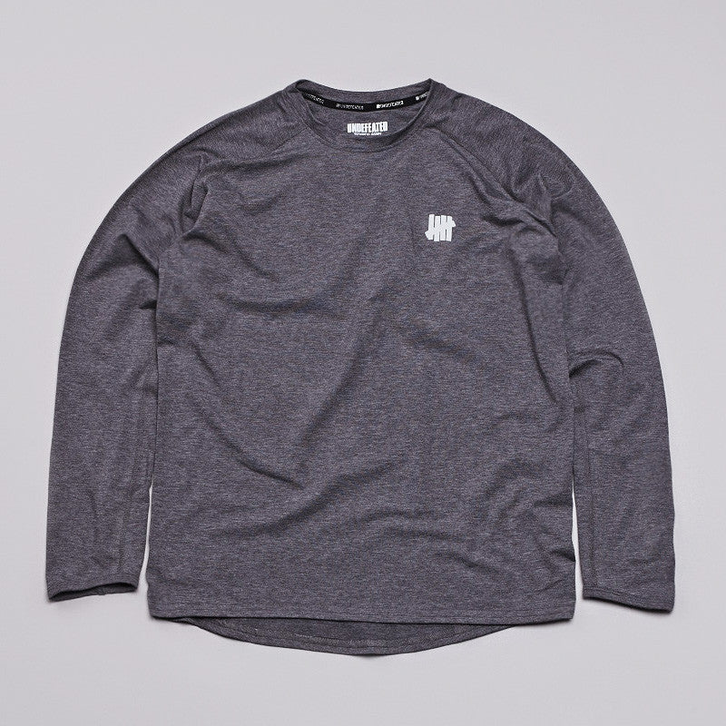 Undefeated Technical L/S T Shirt Dark Grey Heather
