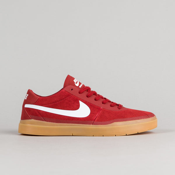 Nike SB Bruin Hyperfeel Shoes - Dark Cayenne / Gum Light Brown / White