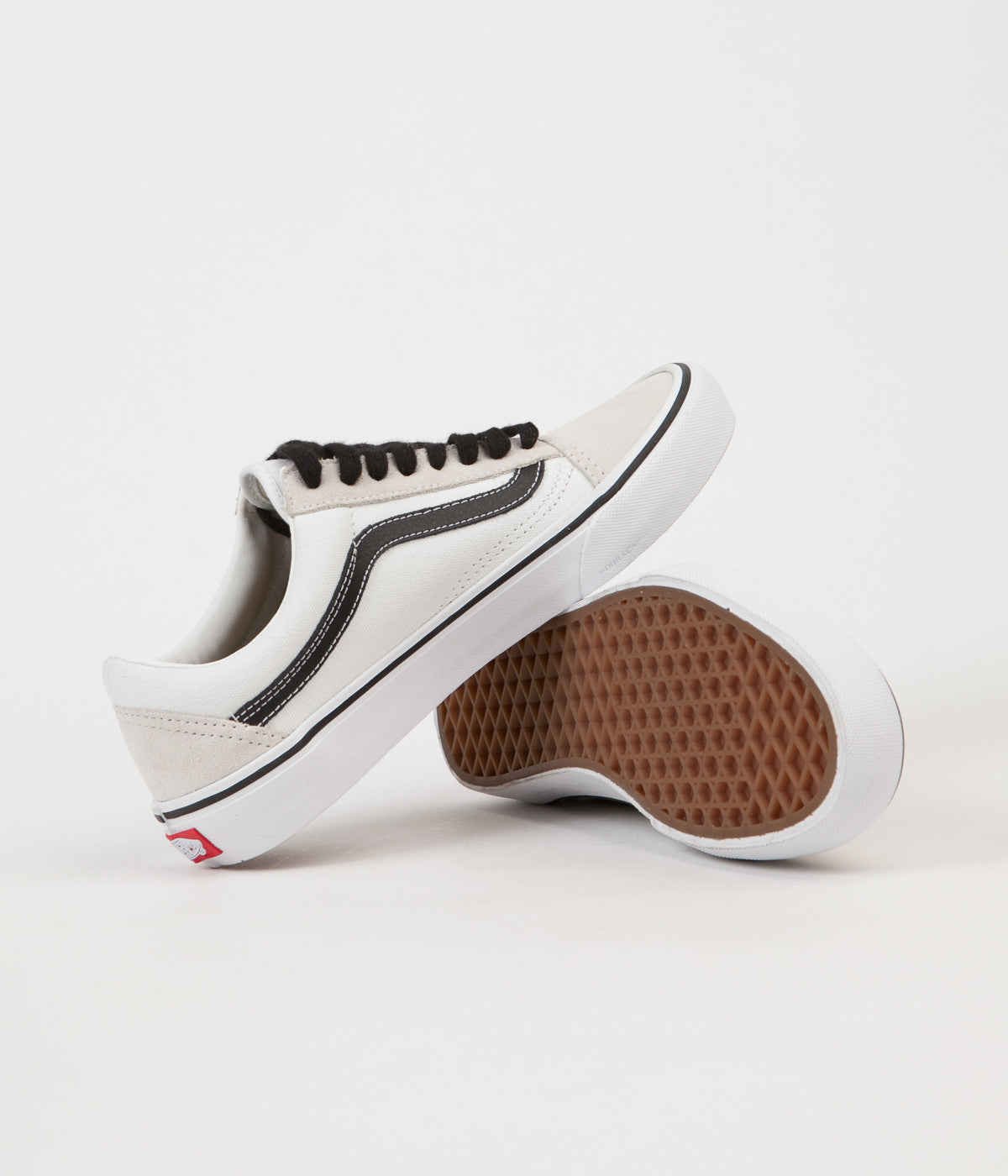 Vans 50th Old Skool Pro  92 Shoes - White   Black   Flatspot 85af61c3f9