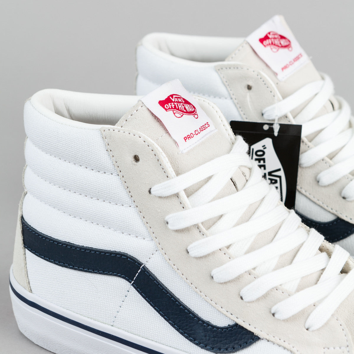 Vans 50th Sk8-Hi Pro '81 Reissue Shoes - White / Navy