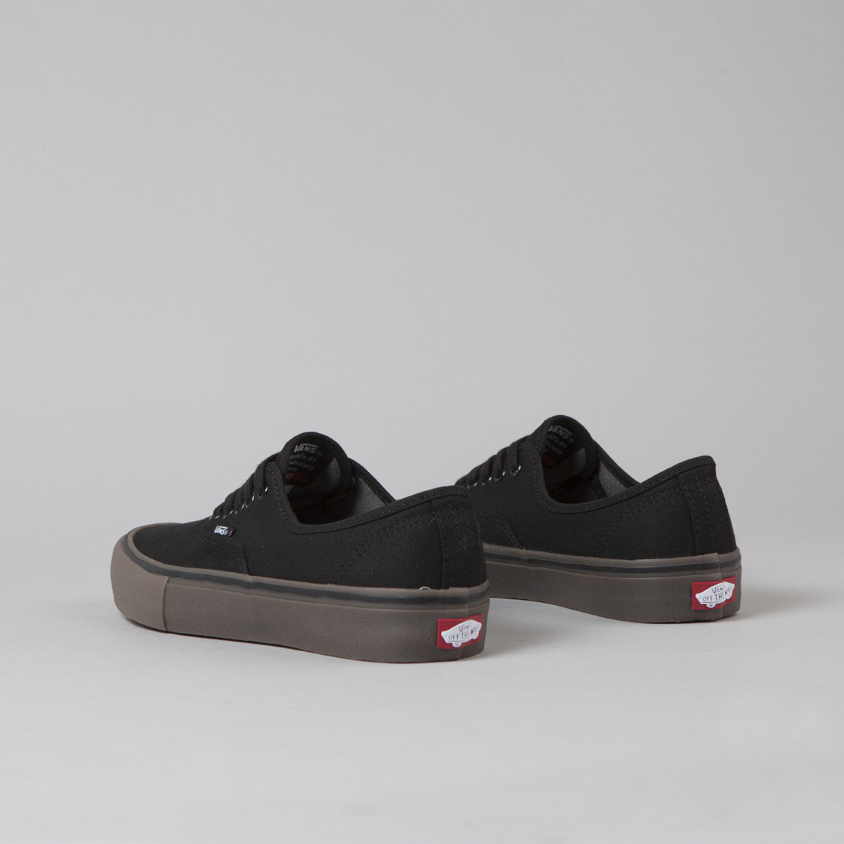 Vans Authentic Pro Canvas Shoes - Black / Gum