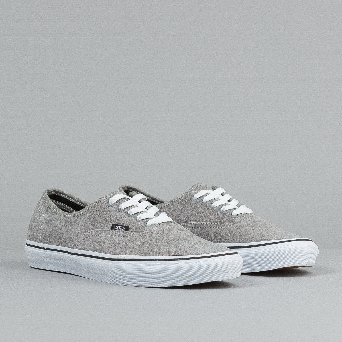 Vans Authentic Shoes - (Suede) Light Grey / True White