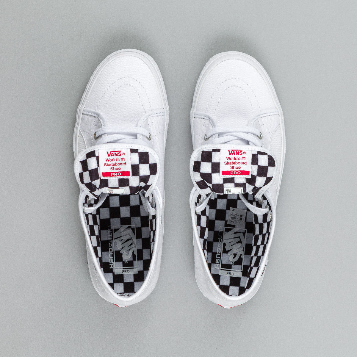 Vans AV Classic High Shoes - Herringbone White / White